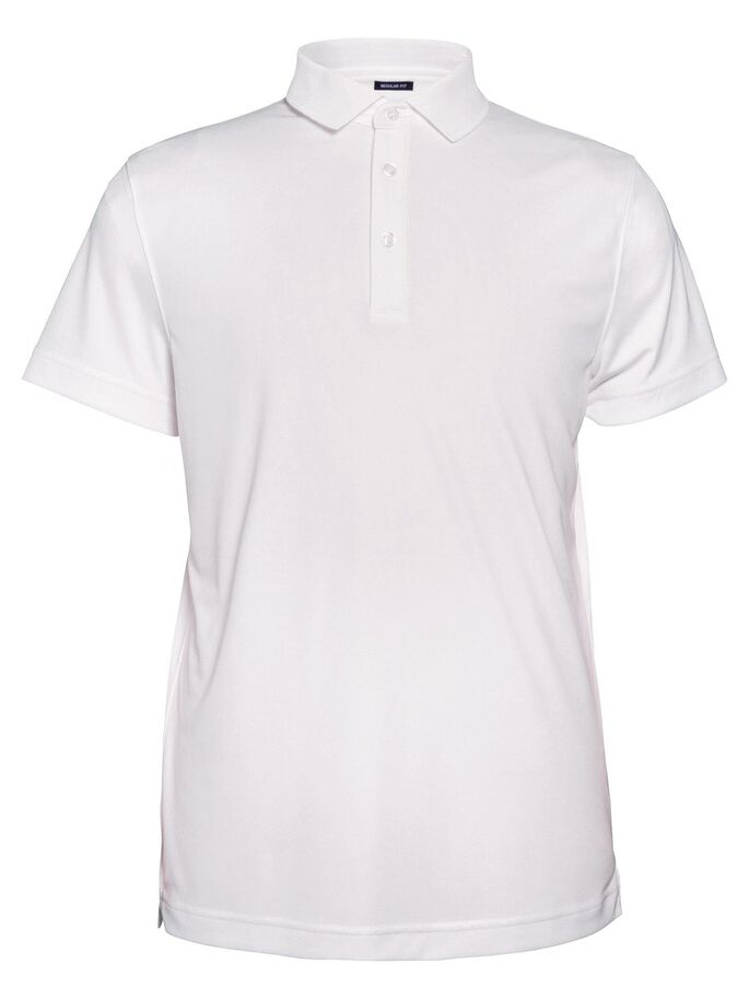 HUNTER REG 2.0 TX-JERSEY- POLOSHIRT, White, large