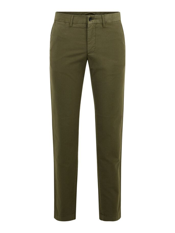 CHAZE STRETCH COTTON TROUSERS, Seaweed Green, large
