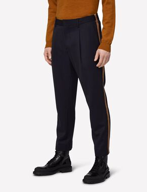 CROPPER SIDE SPORT STRIPE TROUSERS