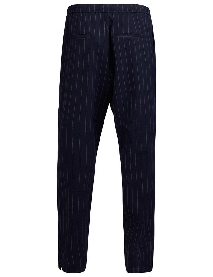 SPRING FAB PINSTRIPE TROUSERS, Navy, large