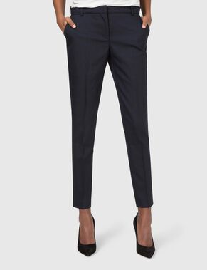 PAULEE CROPPED STRETCH WOOL TROUSERS