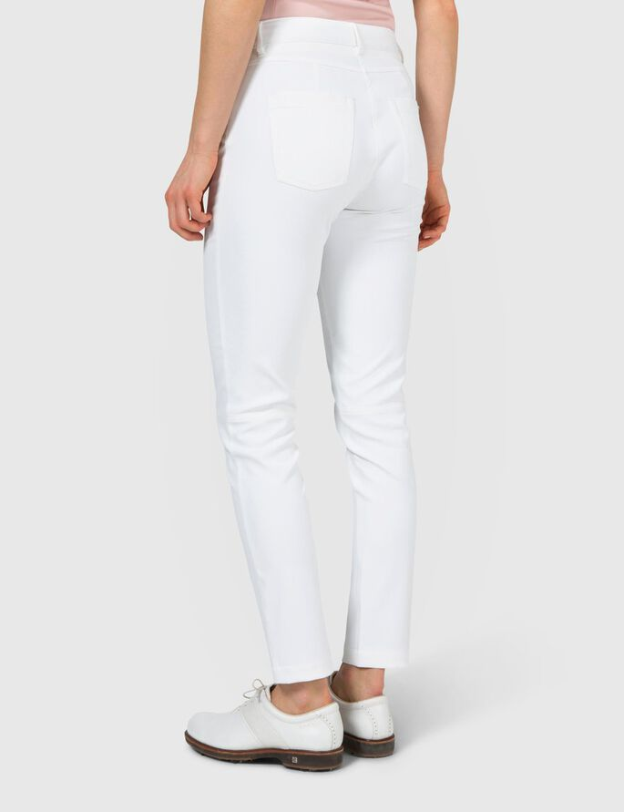 JASMINE MICRO STRETCH TROUSERS, White, large