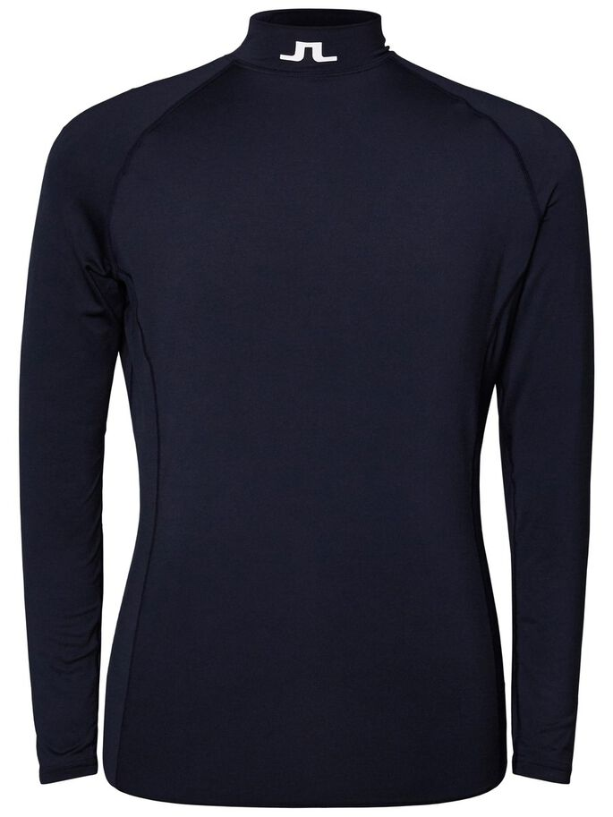 AELLO SLIM SOFT COMPRESSION SPORTS TOP, JL Navy, large