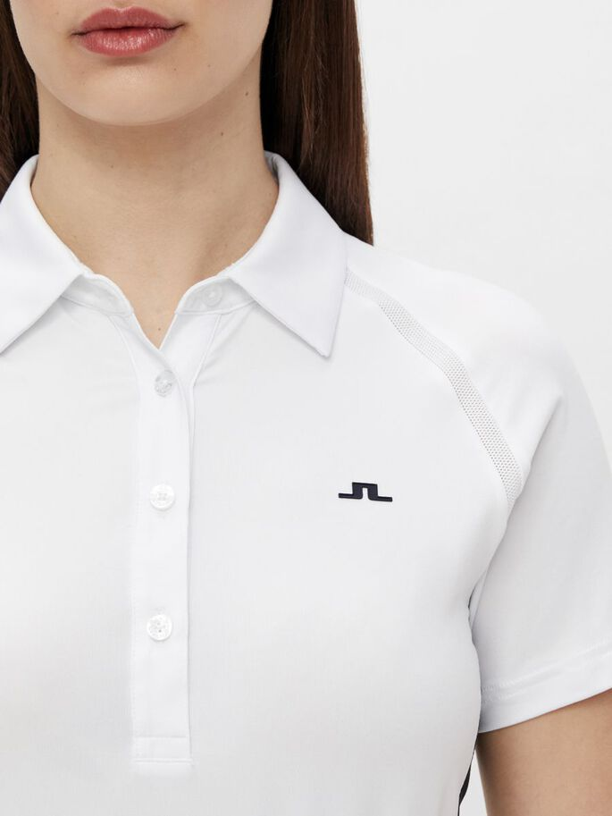 MIZU POLO SHIRT, White, large