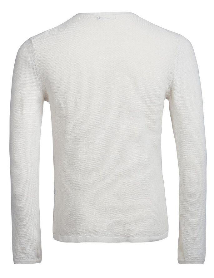 PER LINEN WAFFLE KNITTED PULLOVER, Pale Powder Mel, large