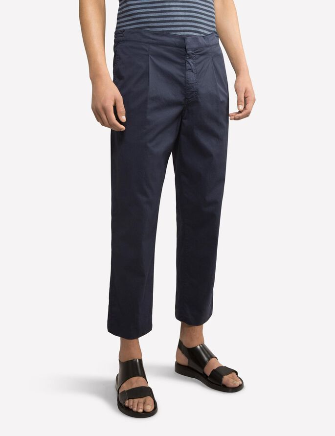 CROPPER FLUID CHINO, Navy, large