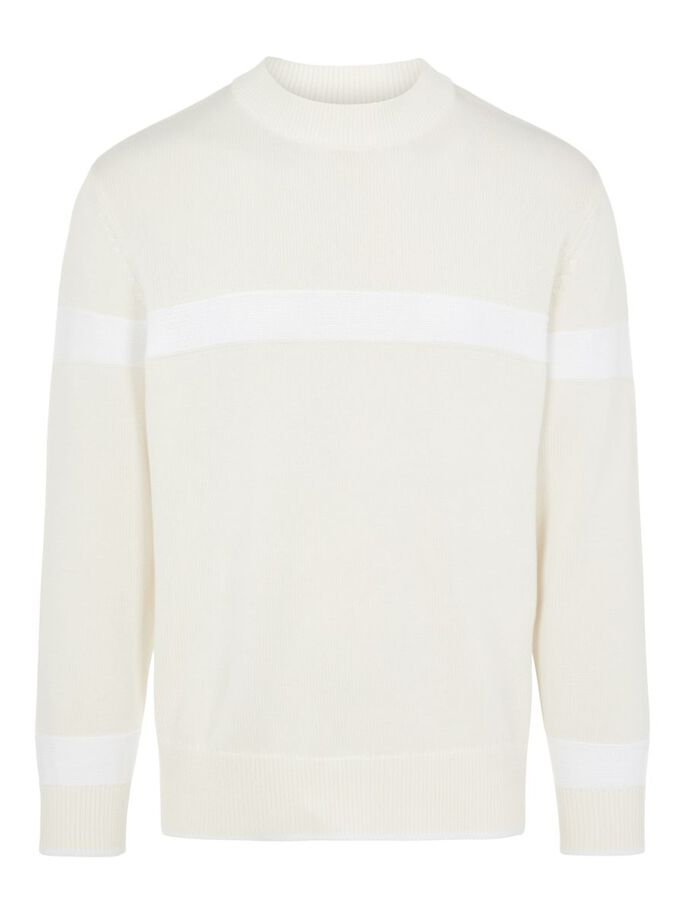 PABLO CREW NECK SWEATER, White, large