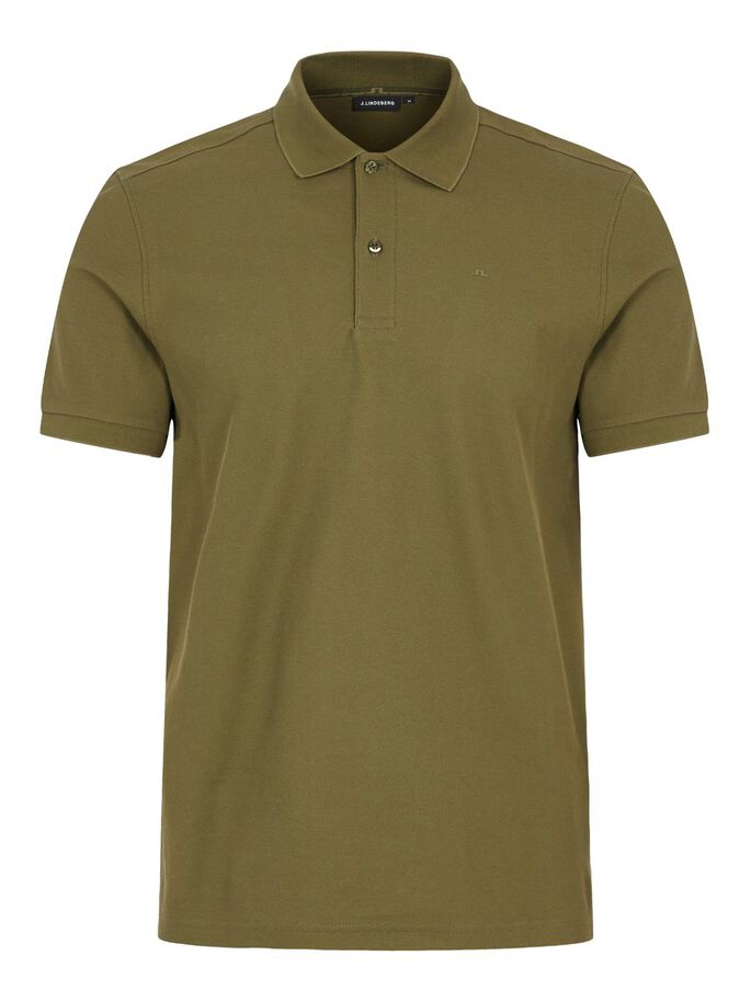 TROY COTTON POLO SHIRT, Moss Green, large