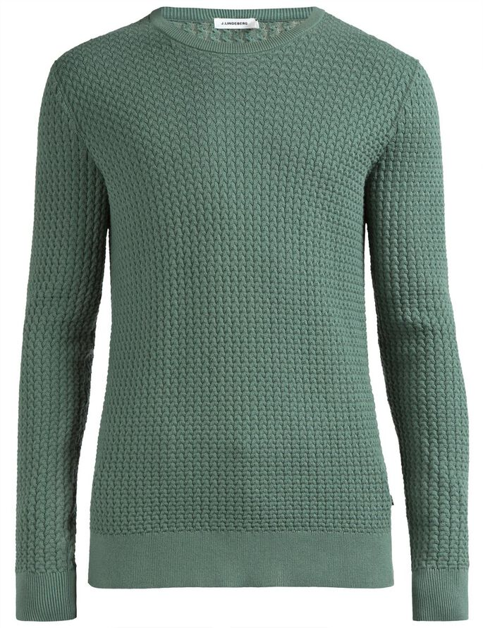 RYAN URBAN BRAID KNITTED PULLOVER, Dusty Green, large