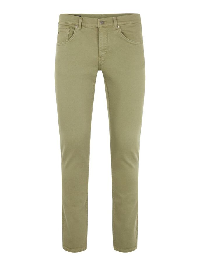 JAY SOLID STRETCH JEANS, Lake Green, large