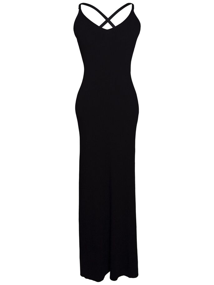 MILLICENT DRAPIERTES STRICK- KLEID, Black, large