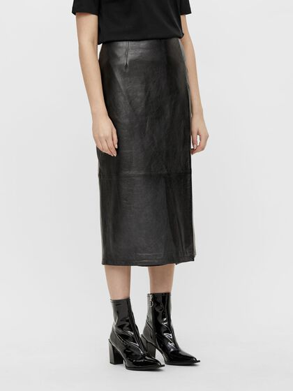 KELSEY PATENT LEATHER SKIRT