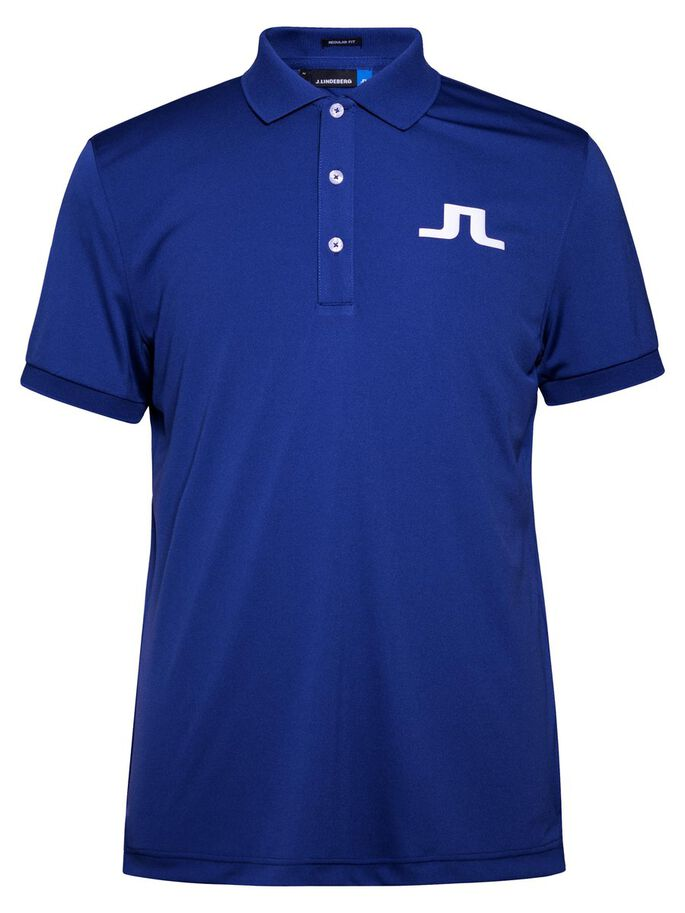 BIG BRIDGE REG TX-JERSEY- POLOSHIRT, Strong Blue, large
