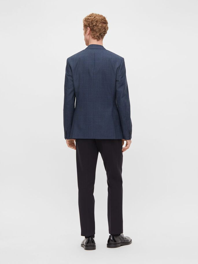 HOPPER CHECKED BLAZER, Mid Blue, large