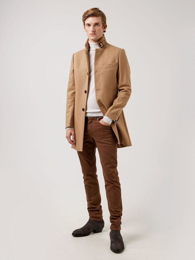 JAY SOLID STRETCH JEAN, Umber Brown, large