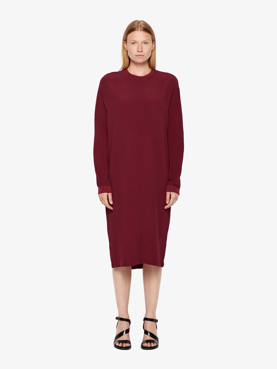 J Lindeberg Noelle Drapy Crepe Dress Women red 8iYizJJHo