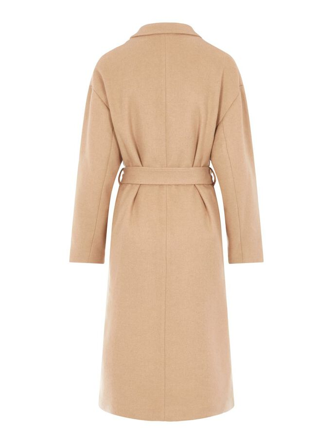 TAYLOR WOOL COAT, Sand Beige, large