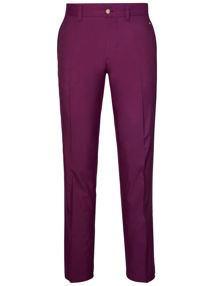 ELOF SLIM FIT LIGHT POLY TROUSERS, Deep Purple, large