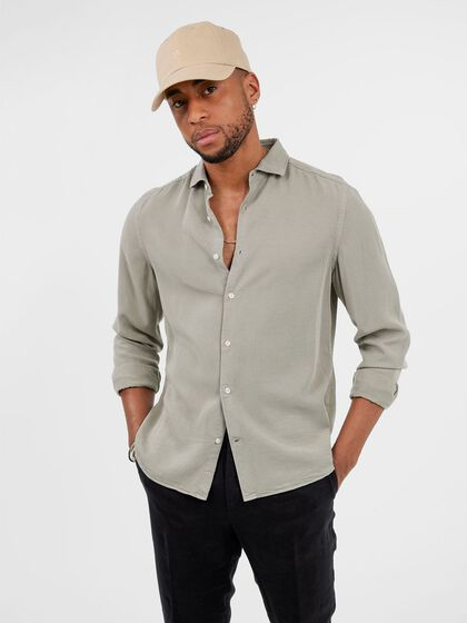COMFORT TENCEL SLIM FIT SHIRT