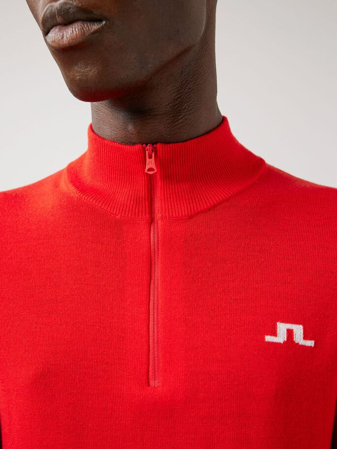 JULIEN KNITTED SWEATER, Racing Red, large