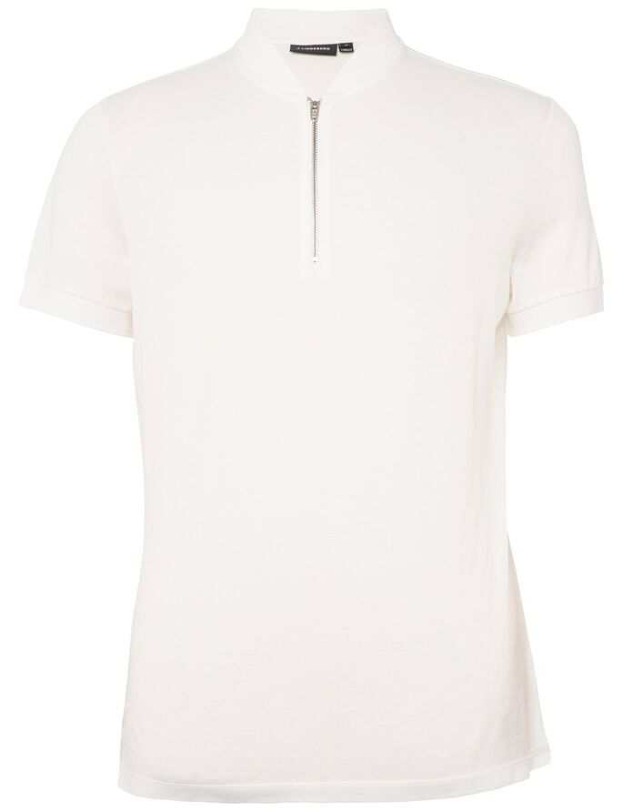 DANNY DRY PIQUE POLO SHIRT, Off White, large