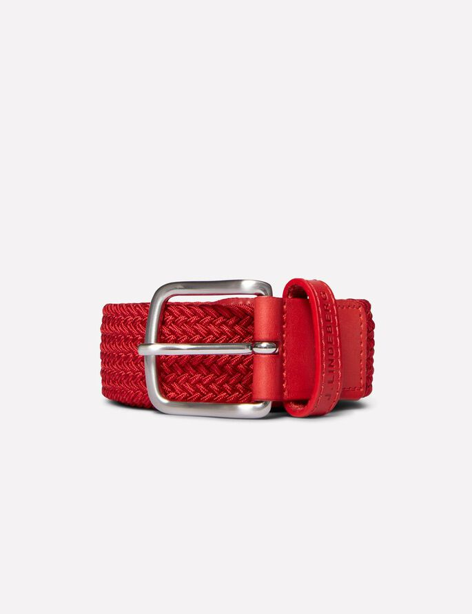 CHAPPER 35 SOLID ELASTIC BRAID BELT, Racing Red, large