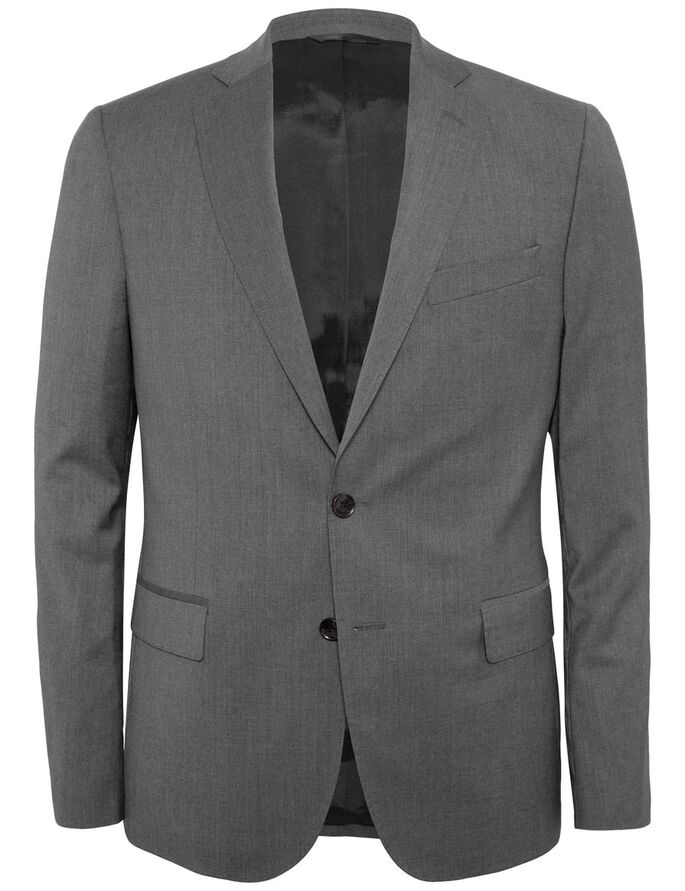 HOPPER SOFT COMFORT WOOL BLAZER, Grey Melange, large