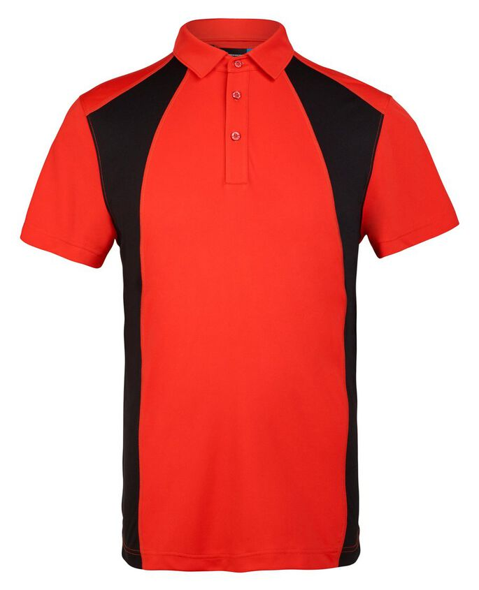 HARLOW COOL WAVE REG TX JERSEY POLO SHIRT, Racing Red, large