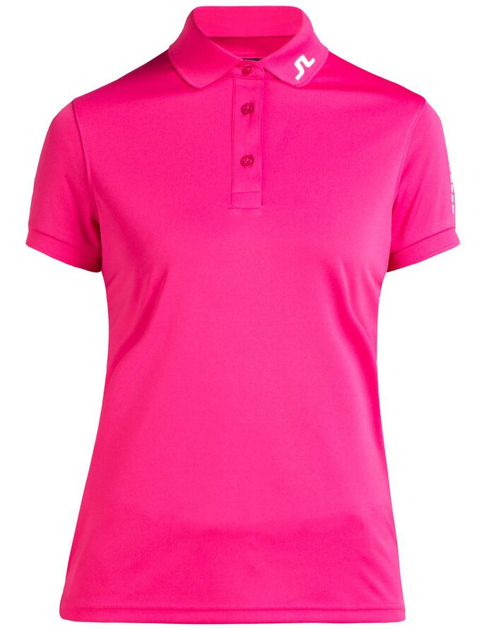 TOUR TECH TX JERSEY POLO SHIRT, Pink Intense, large