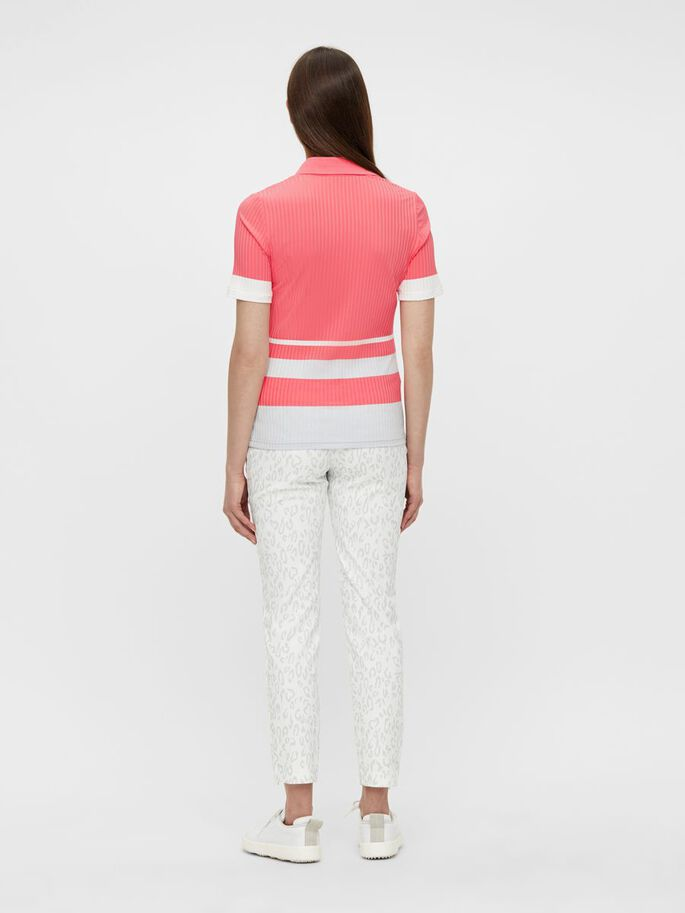 JUNE POLO SHIRT, Tropical Coral, large