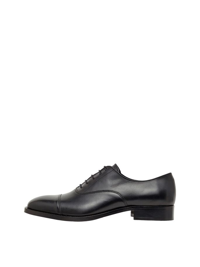 HOPPER LEATHER OXFORD SCHUHE, Black, large