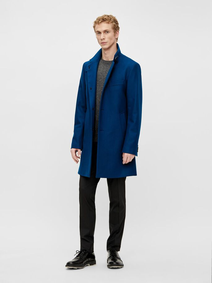 HOLGER WOOL COAT, Universe Blue, large