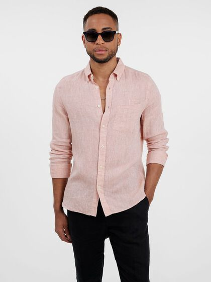 LINEN MELANGE SLIM FIT SHIRT
