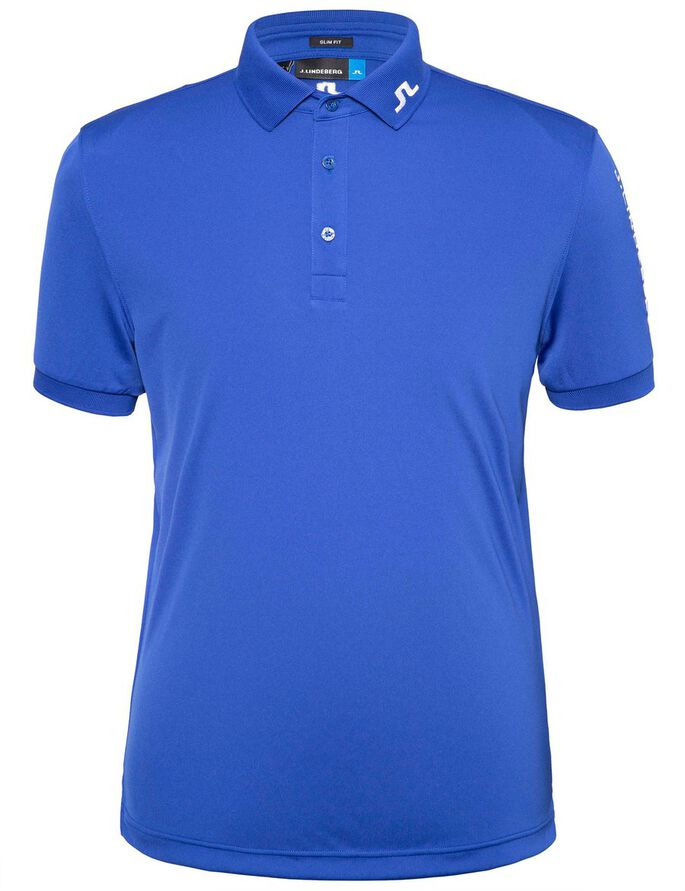 TOUR TECH SLIM TX JERSEY POLO SHIRT, Strong Blue, large