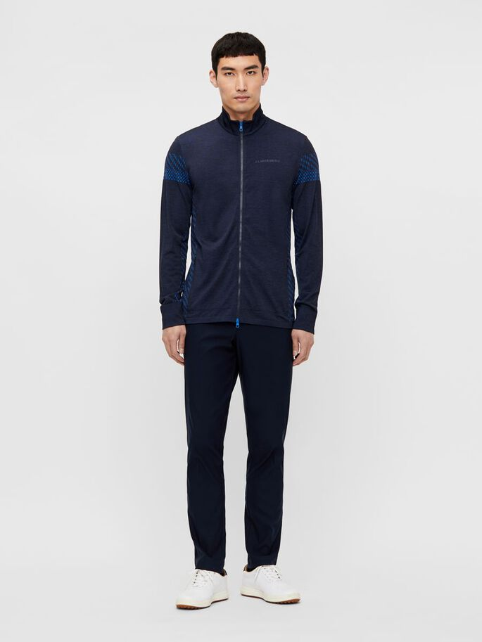 JIM SEAMLESS MIDLAYER JACKET, Navy Melange, large