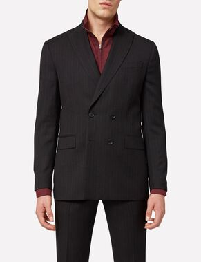 DARKO DOUBLE-BREASTED FANCY WOOL BLAZER