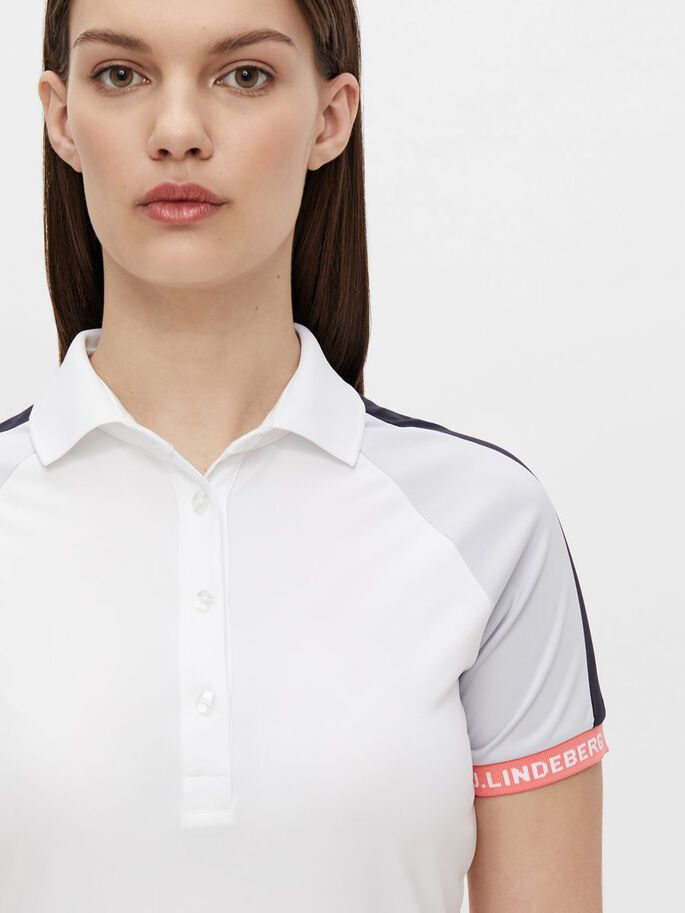 PERINNE POLO SHIRT, White, large