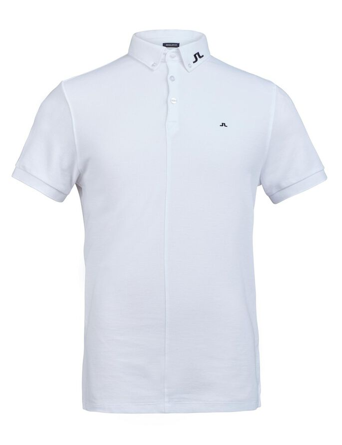 RUBI BUTTON-DOWN REG JL TOUR PIKEE POLOSHIRT, White, large