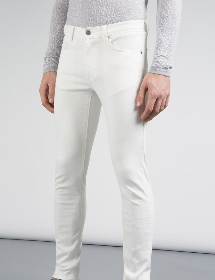 DAMIEN STAY WHITE SKINNY FIT JEANS, Off White, large