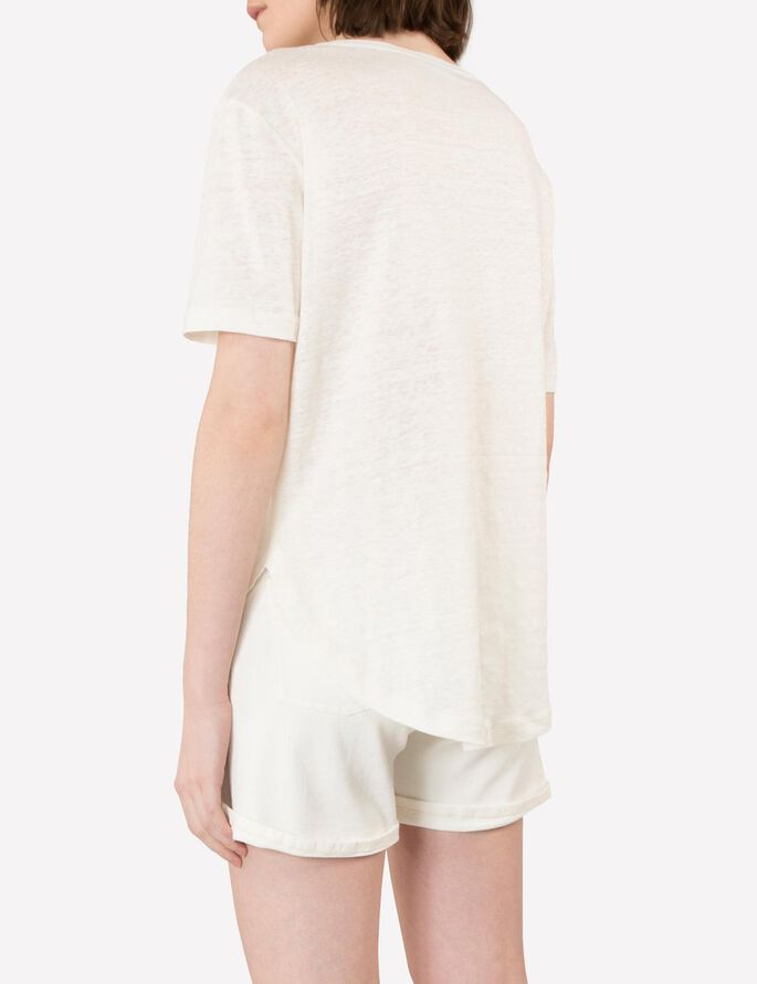 JILL LEINEN-JERSEY- T-SHIRT, Off White, large