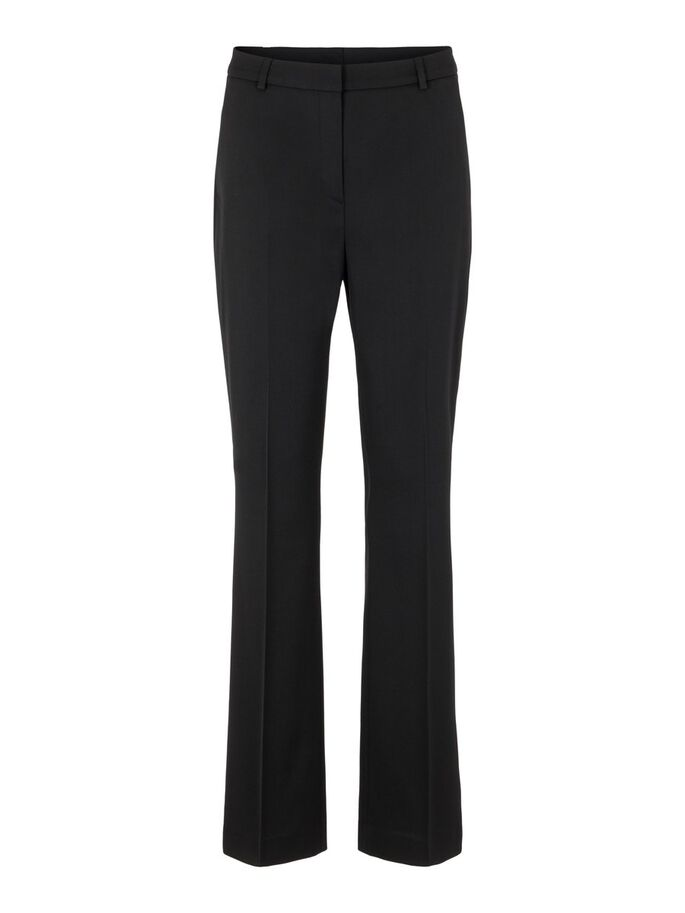 ARETHA FLARED WOOL PANTALON, Black, large