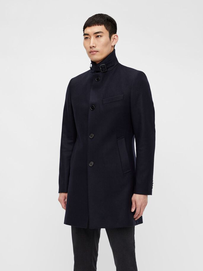 HOLGER COMPACT MELTON COAT, JL Navy, large