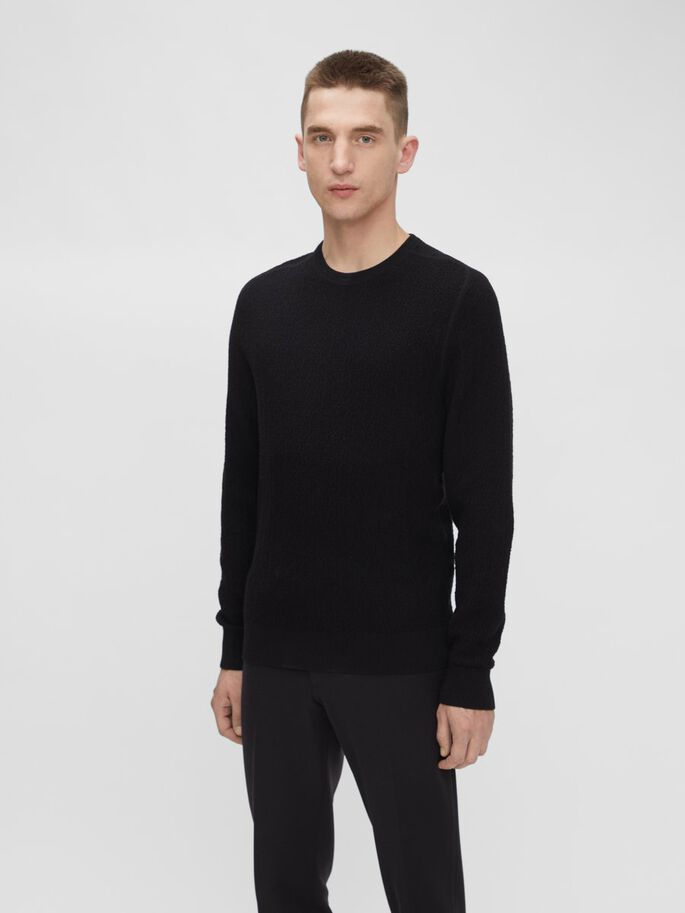 ELIAH SWEATER, Black, large