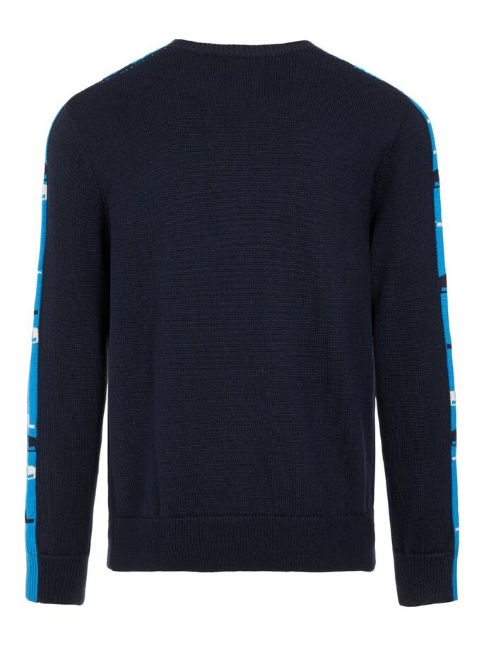 LUKE KNITTED PULLOVER, JL Navy, large