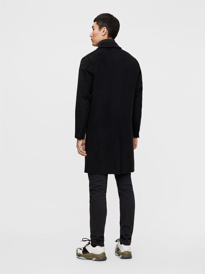 WILLEM WOOL COAT, Black, large