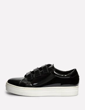 VELCRO PATENT LEATHER SNEAKERS