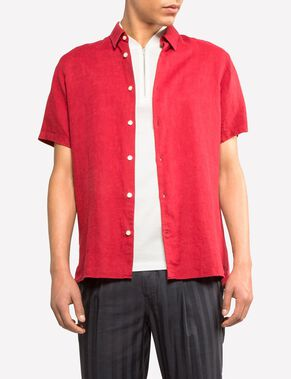 DANIEL LINEN MELANGE SHORT SLEEVED SHIRT