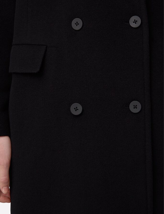 AMARIS BRUSHED WOOL COAT, Black, large