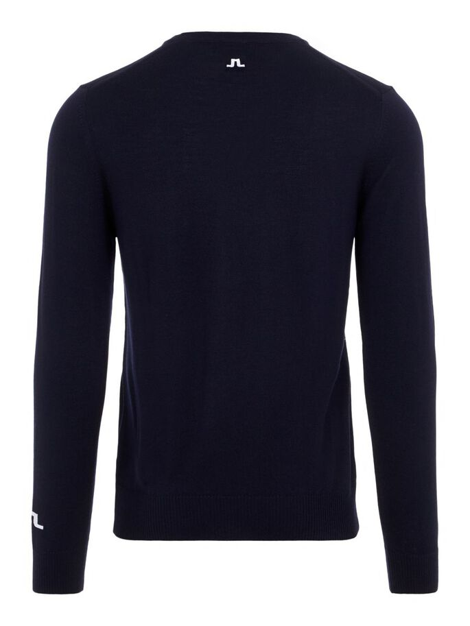 LYMANN TOUR MERINO KNITTED PULLOVER, Navy, large
