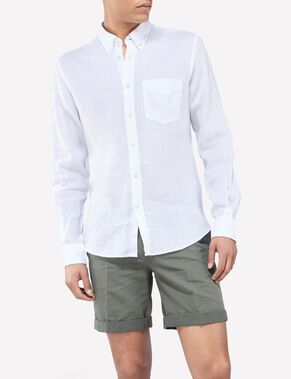 DANIEL BUTTON-DOWN LINEN MELANGE SHIRT